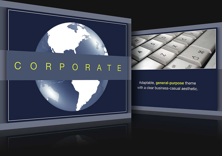Corporate Keynote theme for Mac