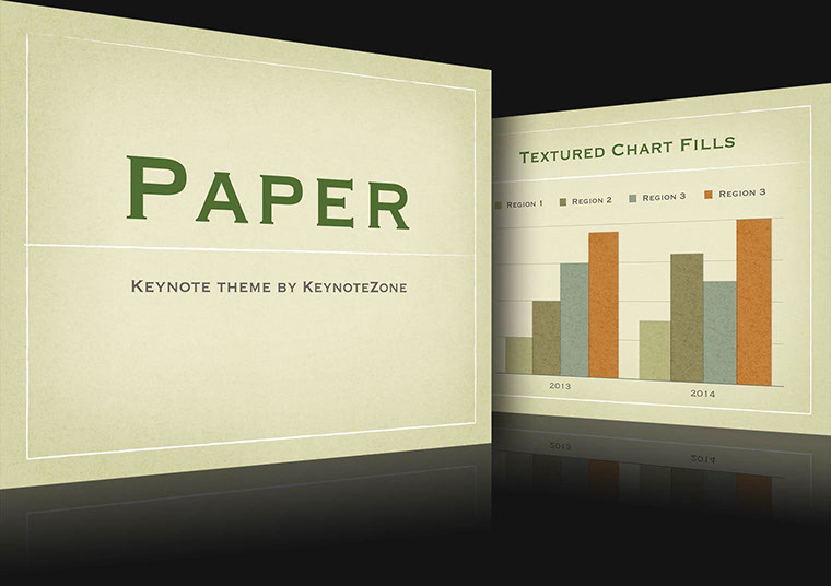 Paper Keynote theme for iOS