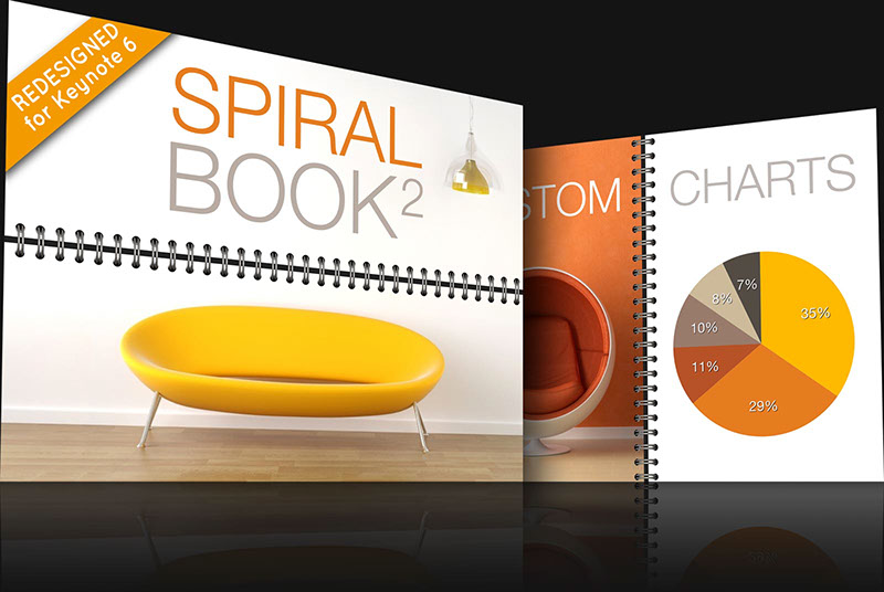 Spiral Book 2 Keynote theme for Mac and iOS