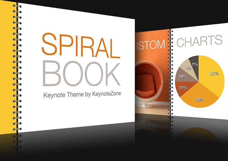 Spiral Book Keynote theme for iOS