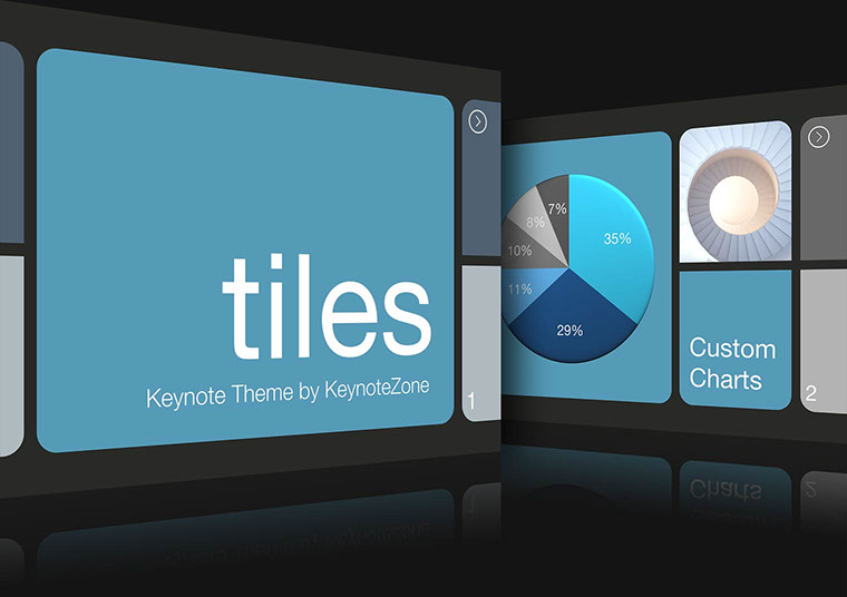 Tiles Keynote theme for iOS